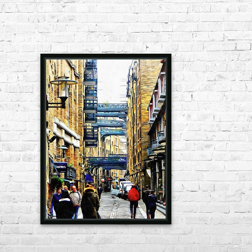 Shad Thames Street View HD Sublimation Metal print with Decorating Float Frame (BOX)