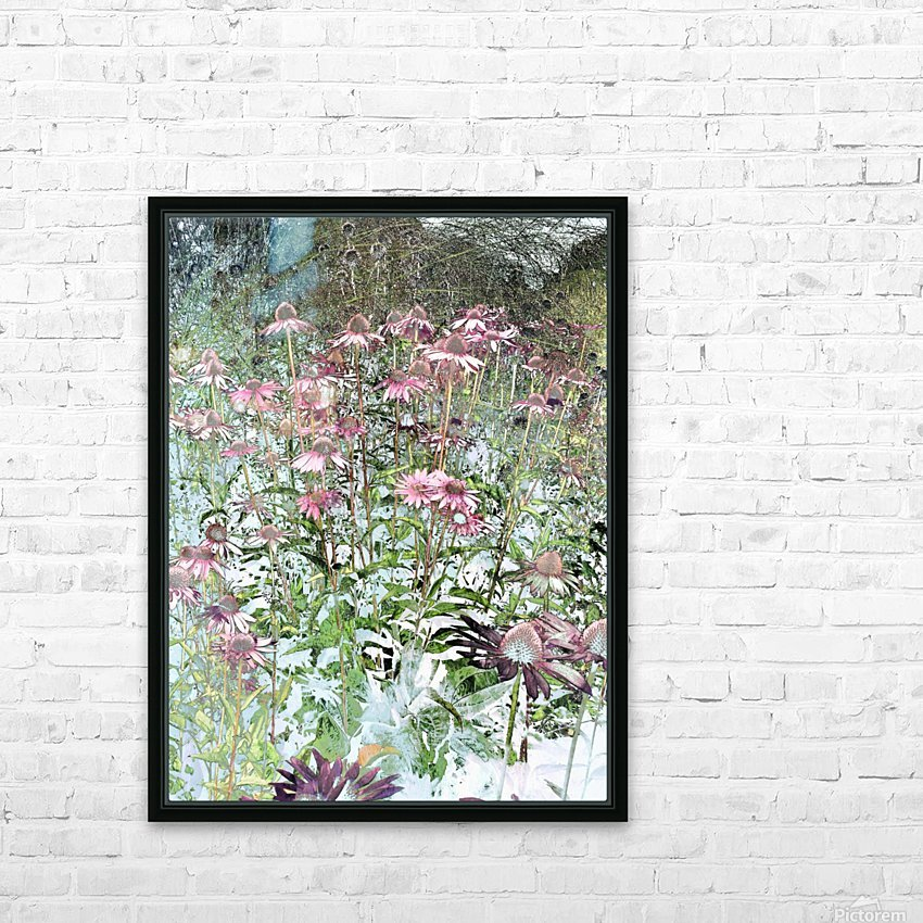 Echinacea HD Sublimation Metal print with Decorating Float Frame (BOX)