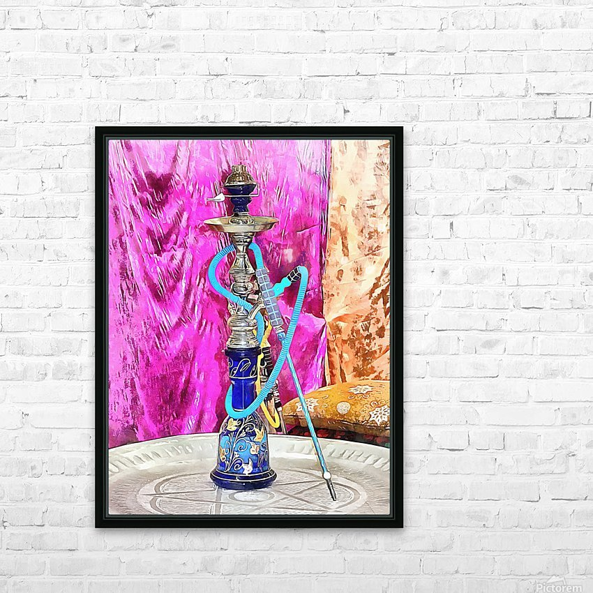 Exotic Oriental Hookah Pipe HD Sublimation Metal print with Decorating Float Frame (BOX)
