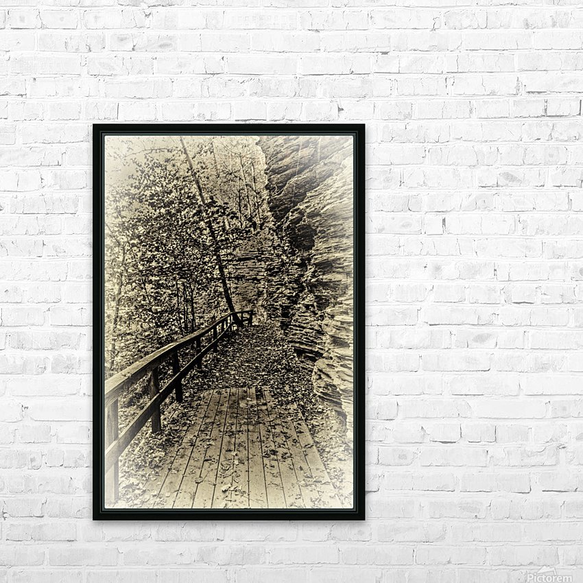 Pathway in Sepia HD Sublimation Metal print with Decorating Float Frame (BOX)
