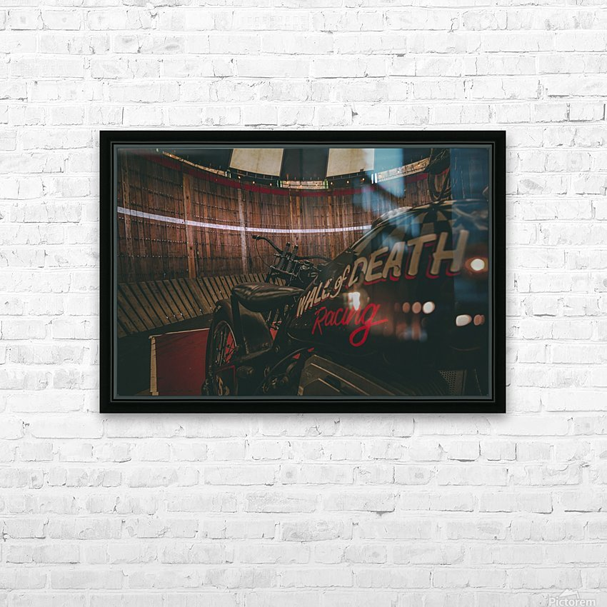 Wall of death Harley Davidson HD Sublimation Metal print with Decorating Float Frame (BOX)