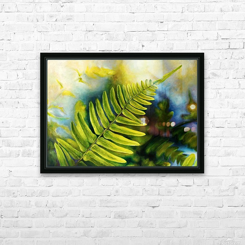 Fern Night HD Sublimation Metal print with Decorating Float Frame (BOX)