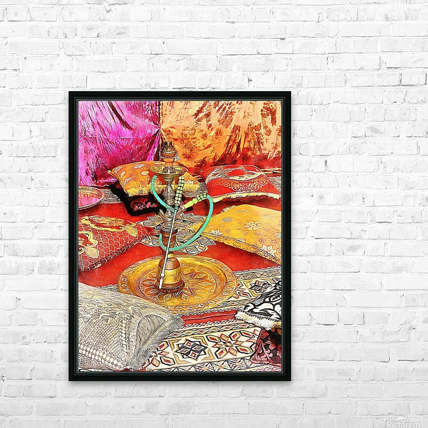Exotic Oriental Hookah Pipe 2 HD Sublimation Metal print with Decorating Float Frame (BOX)