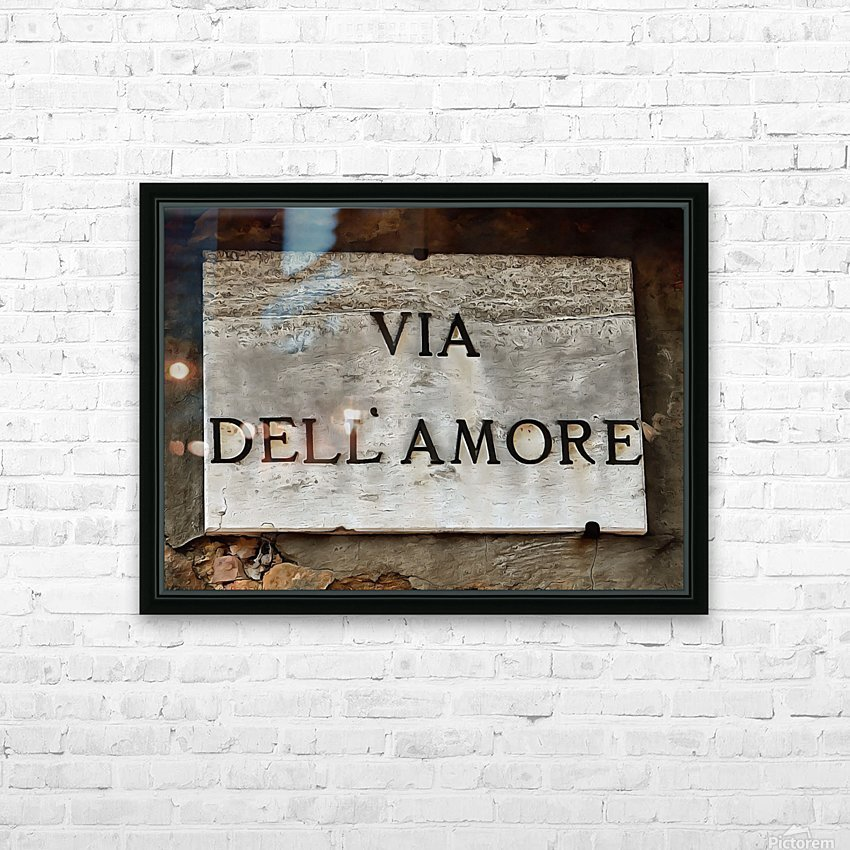 Via DellAmore HD Sublimation Metal print with Decorating Float Frame (BOX)