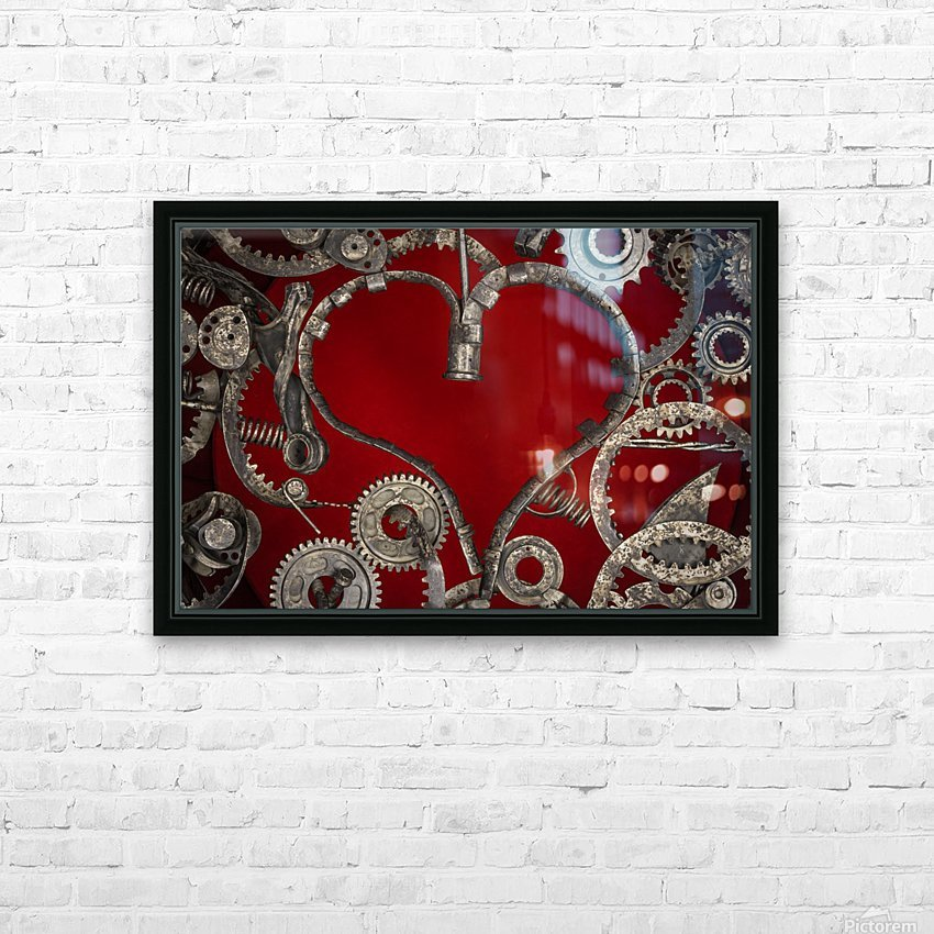 Mechanical Love HD Sublimation Metal print with Decorating Float Frame (BOX)