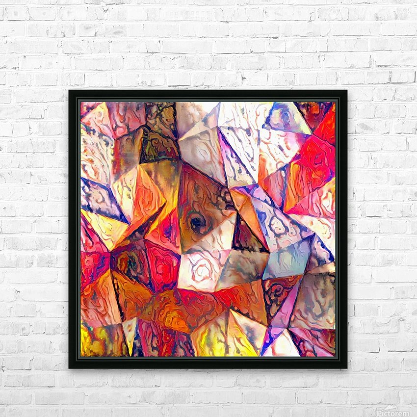 Modern Digital Abstract Painting HD Sublimation Metal print with Decorating Float Frame (BOX)