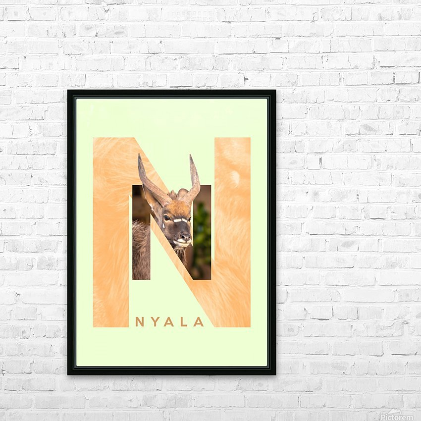 Nyala HD Sublimation Metal print with Decorating Float Frame (BOX)