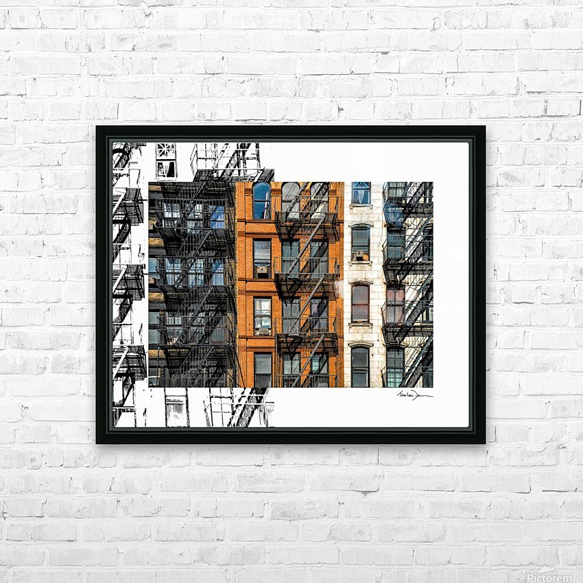 New York - SoHo  HD Sublimation Metal print with Decorating Float Frame (BOX)