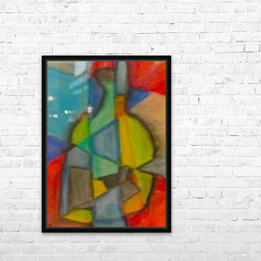 Cubist Bottle HD Sublimation Metal print with Decorating Float Frame (BOX)
