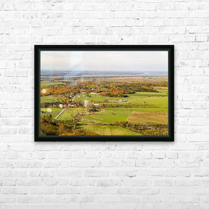 View of Ottawa Valley in Autumn18 HD Sublimation Metal print with Decorating Float Frame (BOX)