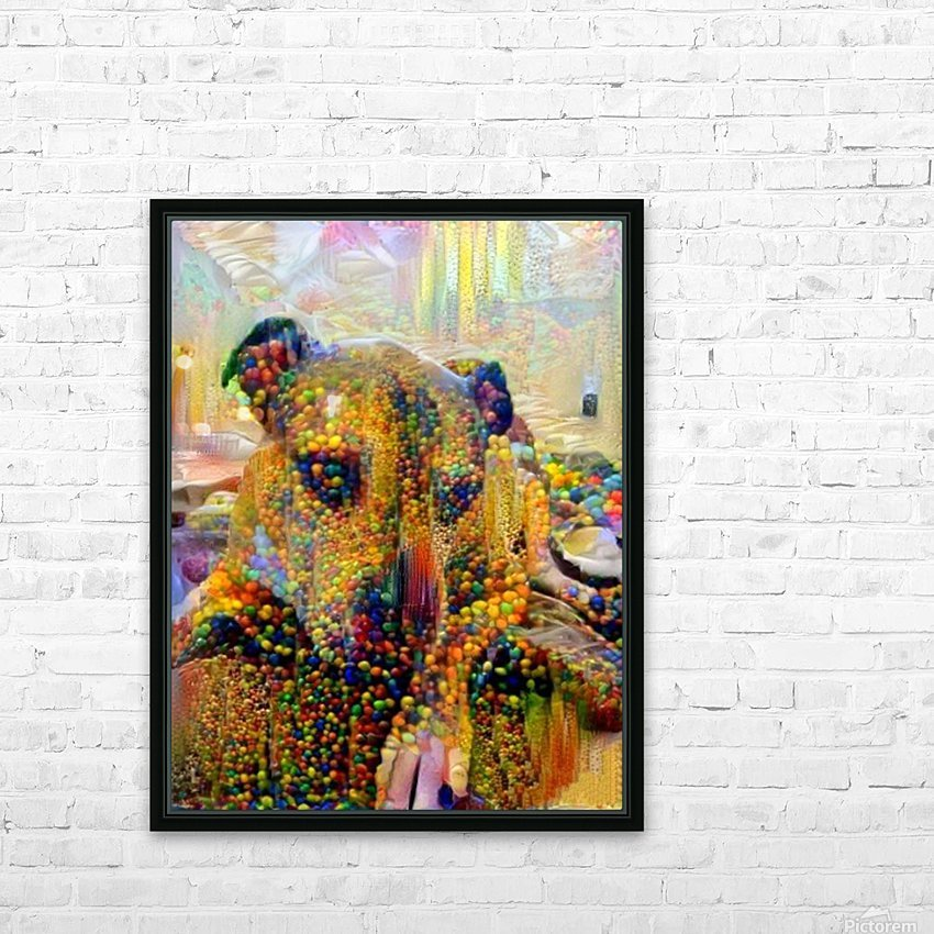 Candy Dog HD Sublimation Metal print with Decorating Float Frame (BOX)