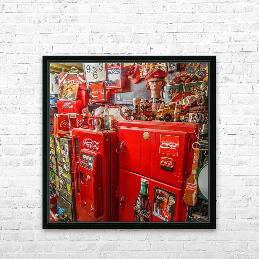 Coca Cola - Montreal HD Sublimation Metal print with Decorating Float Frame (BOX)