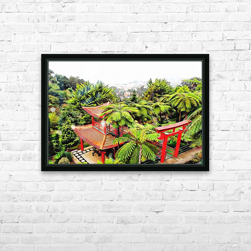 Oriental Gardens Madeira 4 HD Sublimation Metal print with Decorating Float Frame (BOX)