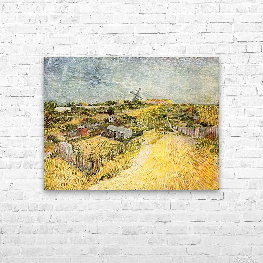 Vegetable Gardens in Montmartre by Van Gogh HD Sublimation Metal print with Decorating Float Frame (BOX)
