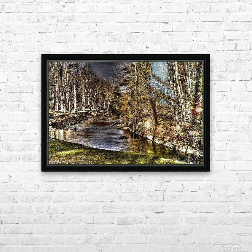 Stoney Brook Falls HD Sublimation Metal print with Decorating Float Frame (BOX)