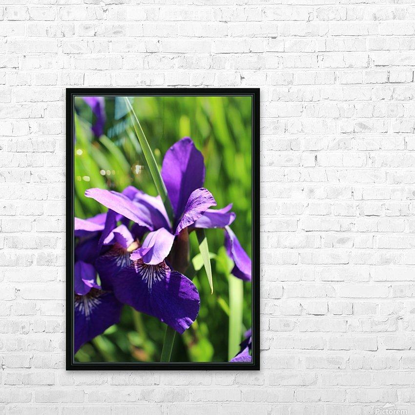 Purple Iris HD sublimation métal imprimé avec décoration flotteur cadre (boîte)