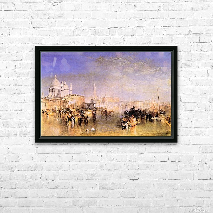 Venice from the canal by Joseph Mallord Turner HD Sublimation Metal print with Decorating Float Frame (BOX)
