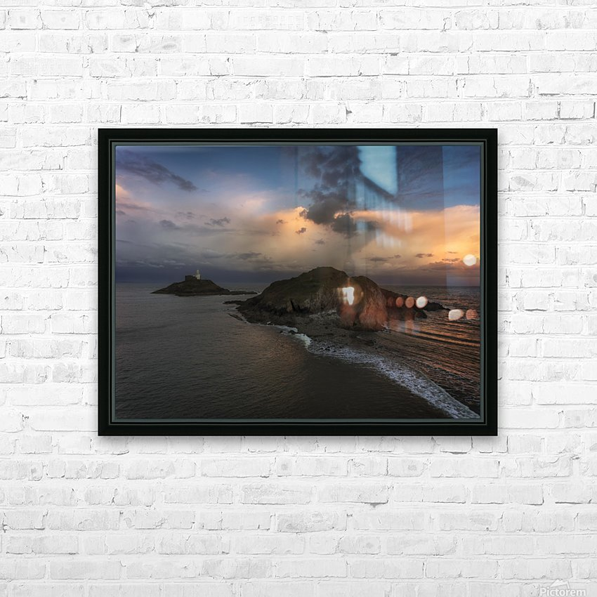 Dusk at Mumbles lighthouse HD Sublimation Metal print with Decorating Float Frame (BOX)