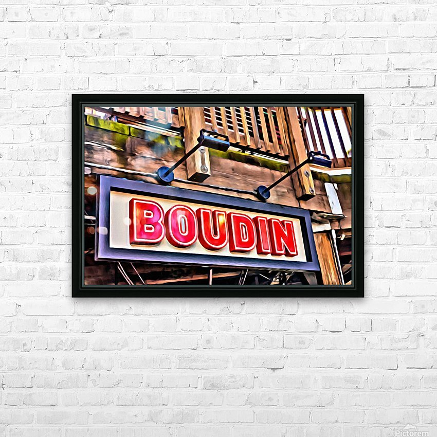 Boudin Bakery Sign HD Sublimation Metal print with Decorating Float Frame (BOX)