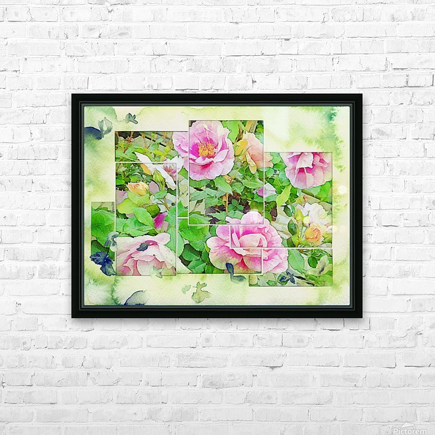 Soft Rose Fragments HD Sublimation Metal print with Decorating Float Frame (BOX)