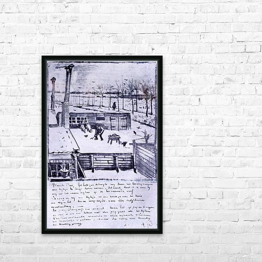 View from the window of the studio by Van Gogh HD Sublimation Metal print with Decorating Float Frame (BOX)