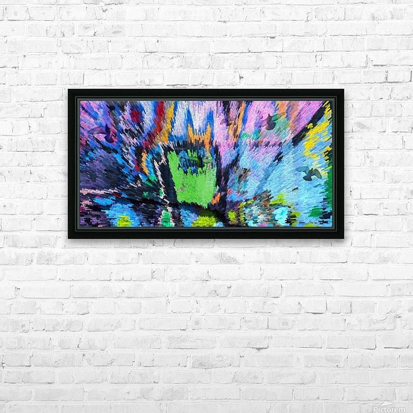 Les pigeons de Central Park New York HD Sublimation Metal print with Decorating Float Frame (BOX)