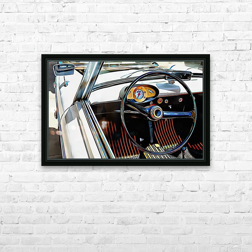Autobianchi Bianchina Through The Window HD Sublimation Metal print with Decorating Float Frame (BOX)