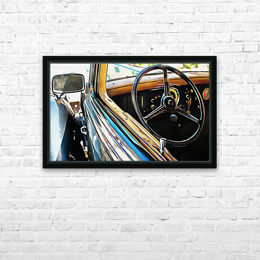 Fiat 508 Balila Through the Window HD Sublimation Metal print with Decorating Float Frame (BOX)