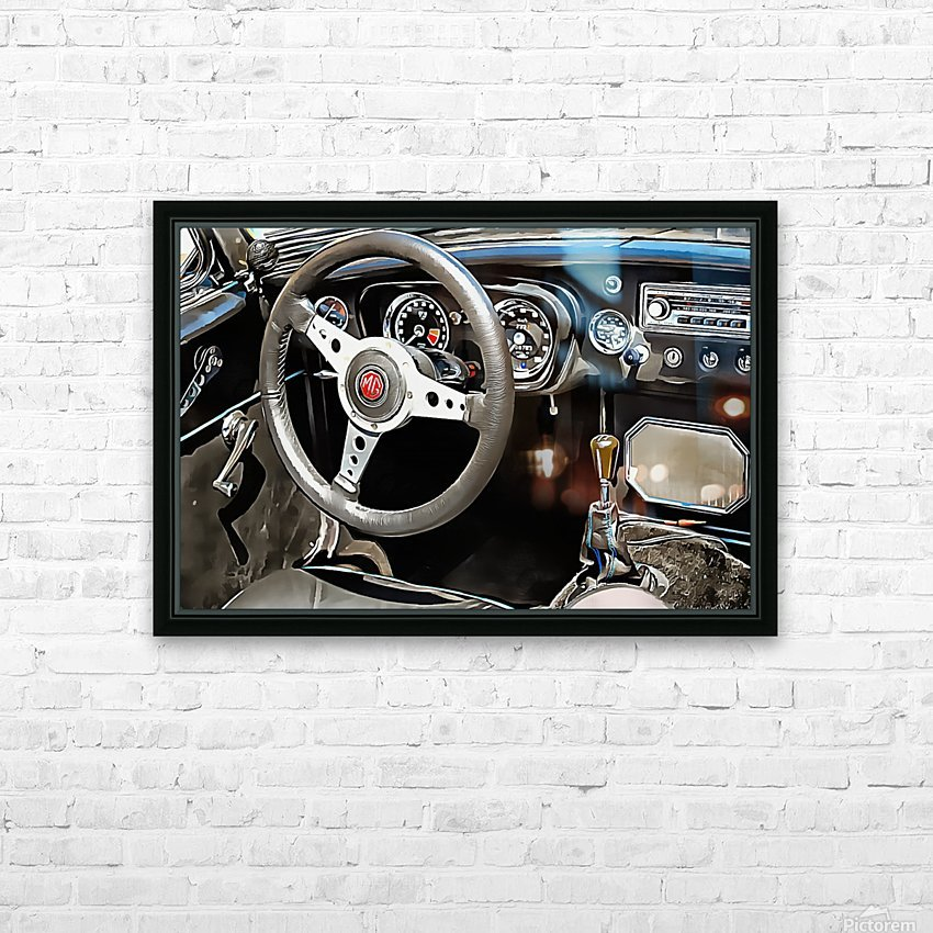 MG B Glance At Interior HD Sublimation Metal print with Decorating Float Frame (BOX)
