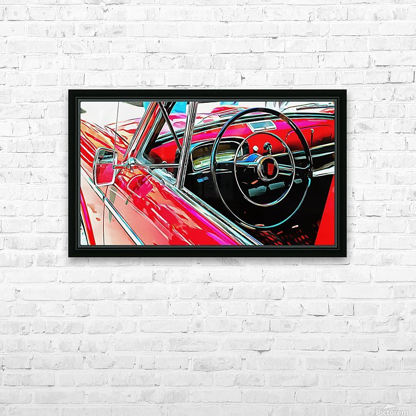 Fiat 1100 D Through The Window HD Sublimation Metal print with Decorating Float Frame (BOX)