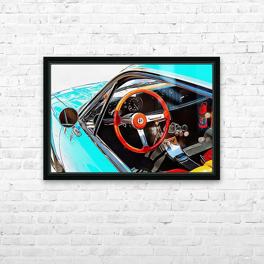 Alfa Romeo 1600Z Through The Window HD Sublimation Metal print with Decorating Float Frame (BOX)