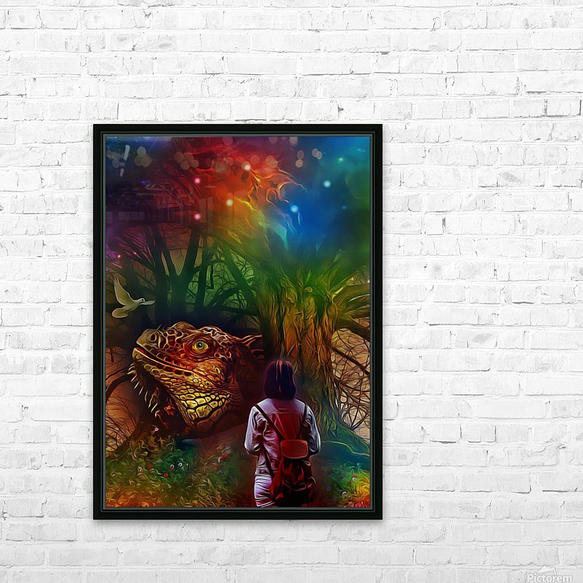 Keeper of the Tree HD Sublimation Metal print with Decorating Float Frame (BOX)