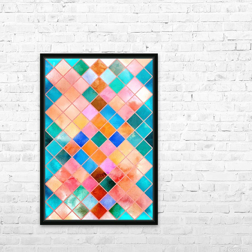Geometric XXXX HD Sublimation Metal print with Decorating Float Frame (BOX)
