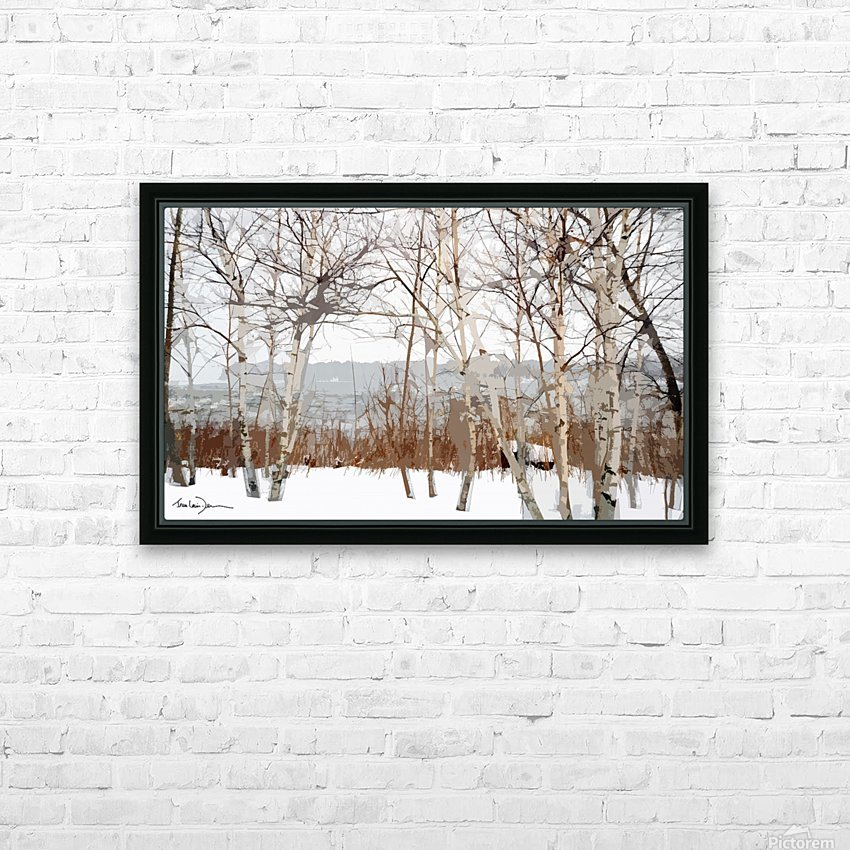 Canal Lachine HD Sublimation Metal print with Decorating Float Frame (BOX)