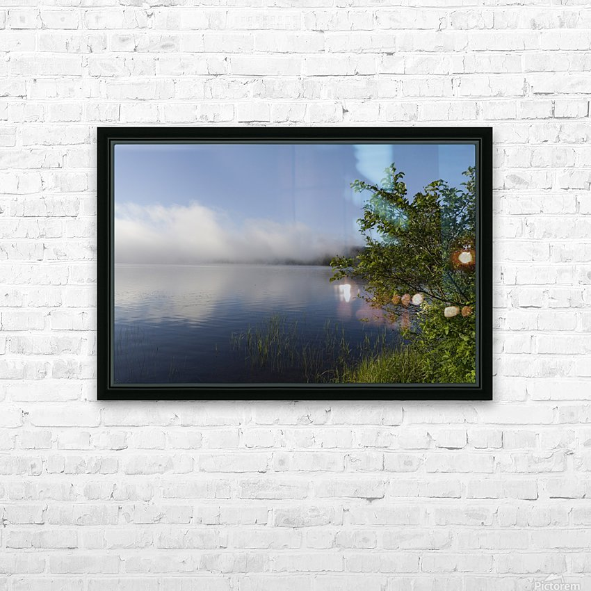 Early Morning Fog Bank HD Sublimation Metal print with Decorating Float Frame (BOX)