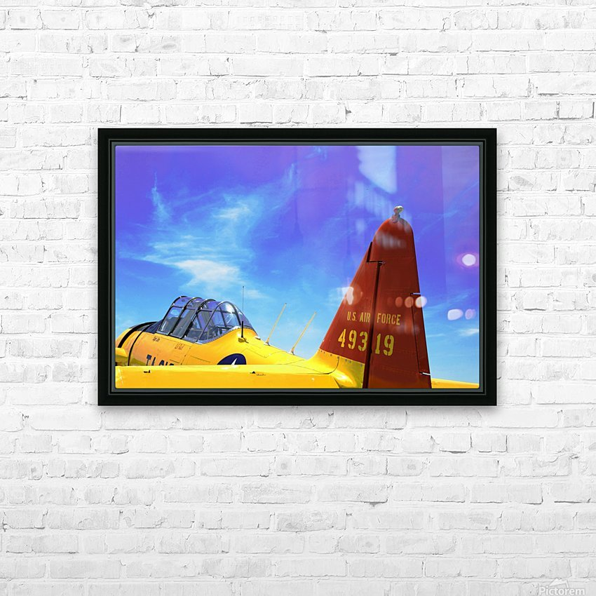 T6 Texan HD Sublimation Metal print with Decorating Float Frame (BOX)