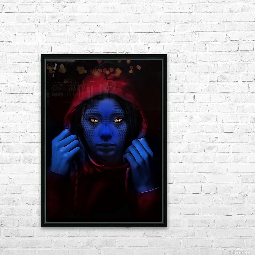 Blue Indigo HD Sublimation Metal print with Decorating Float Frame (BOX)