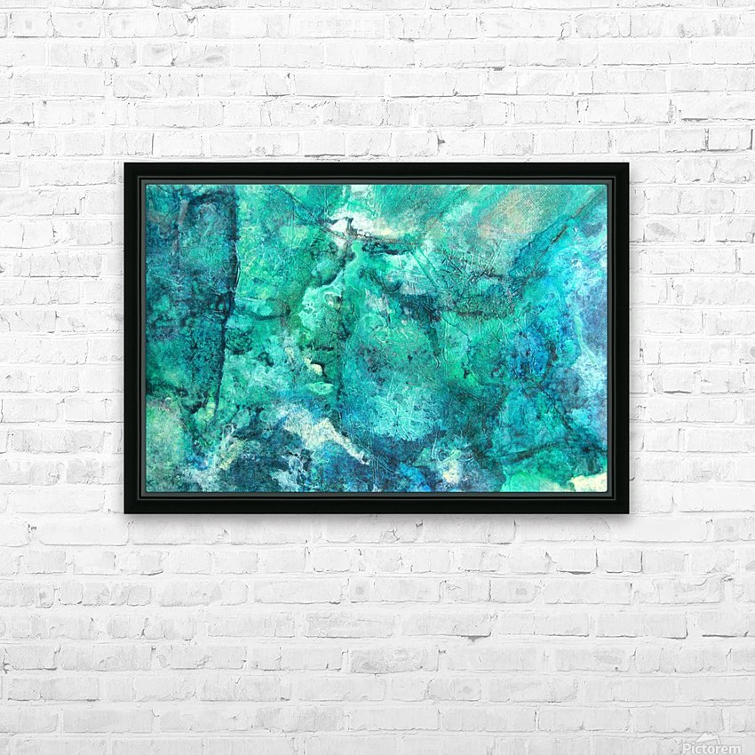 turquoise N°2 HD Sublimation Metal print with Decorating Float Frame (BOX)
