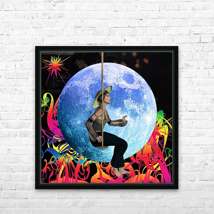Moon Dream HD Sublimation Metal print with Decorating Float Frame (BOX)