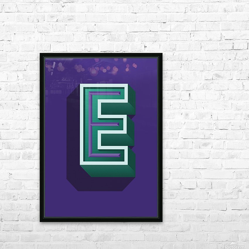 E UPPERCASE HD Sublimation Metal print with Decorating Float Frame (BOX)