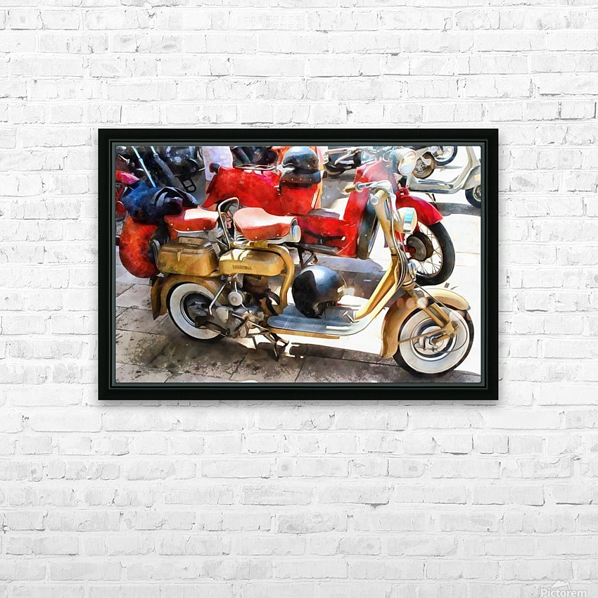 Make Mine a Lambretta HD Sublimation Metal print with Decorating Float Frame (BOX)