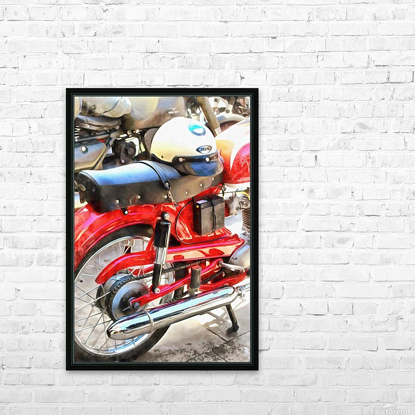 Neatly Parked HD Sublimation Metal print with Decorating Float Frame (BOX)