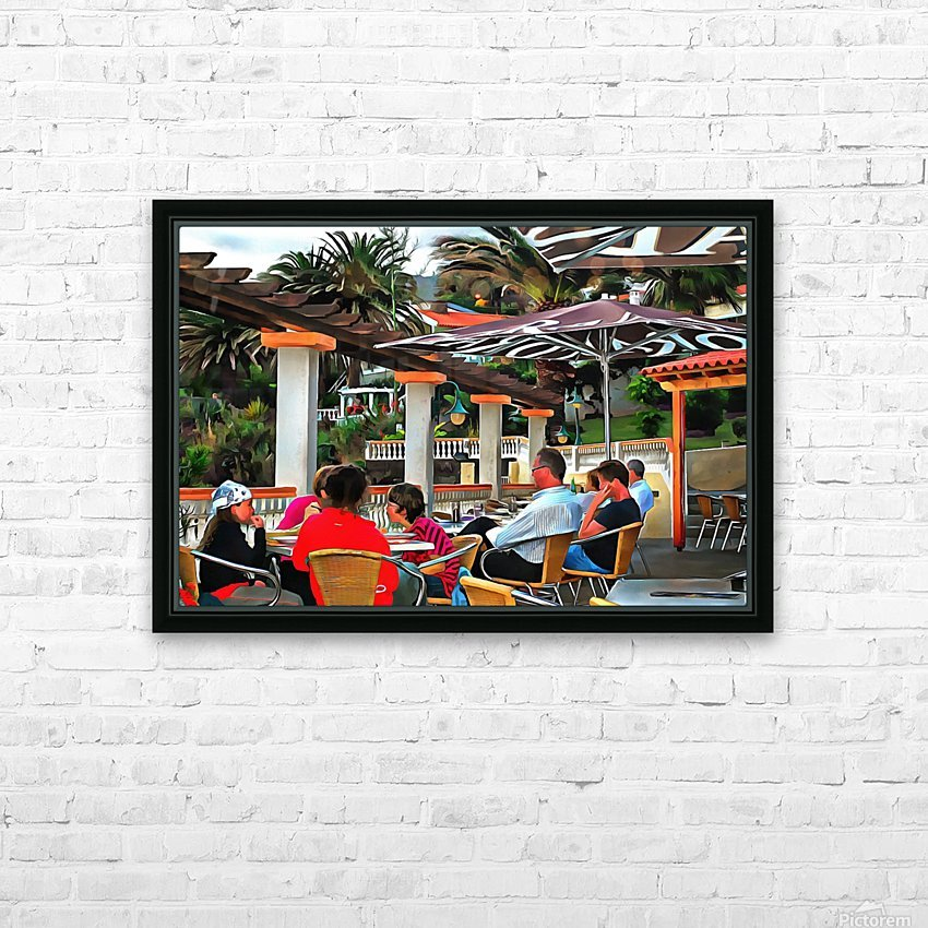 Bar In Funchal Madeira HD Sublimation Metal print with Decorating Float Frame (BOX)