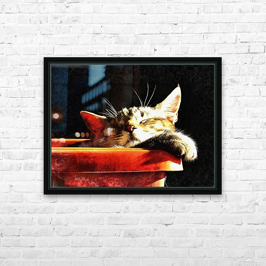 Wake Me When It Is Dinner Time HD Sublimation Metal print with Decorating Float Frame (BOX)