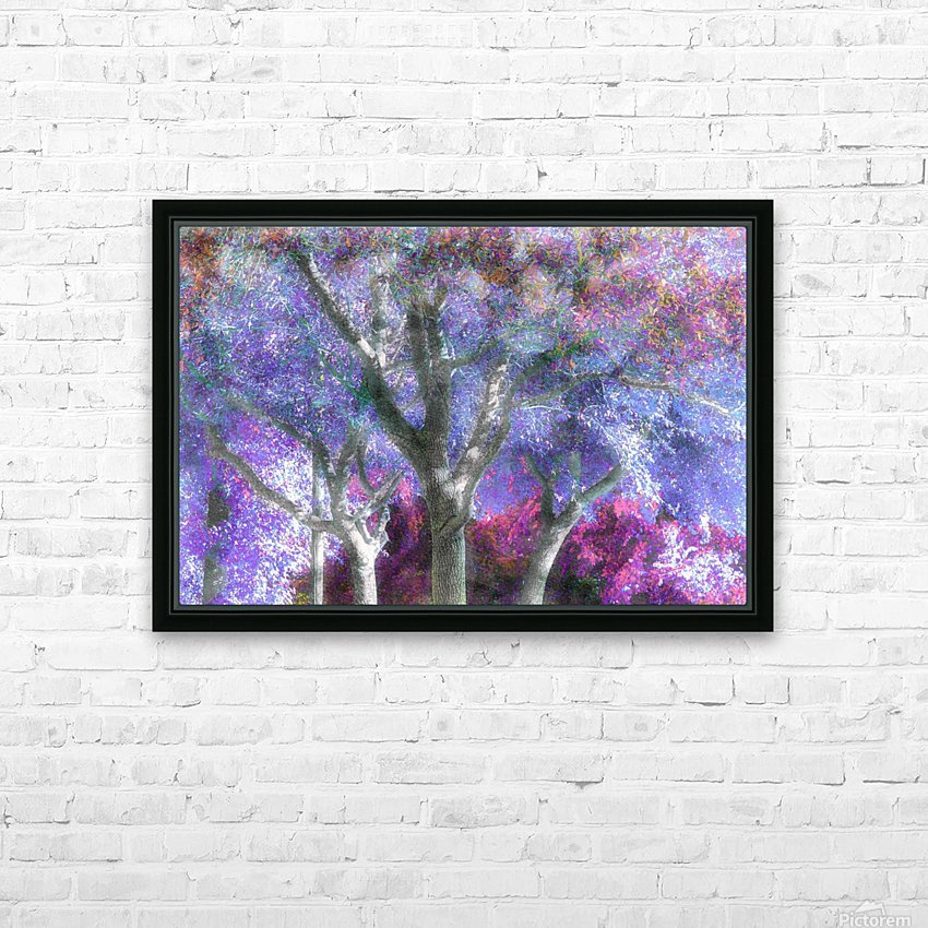 Muted Treetops HD Sublimation Metal print with Decorating Float Frame (BOX)