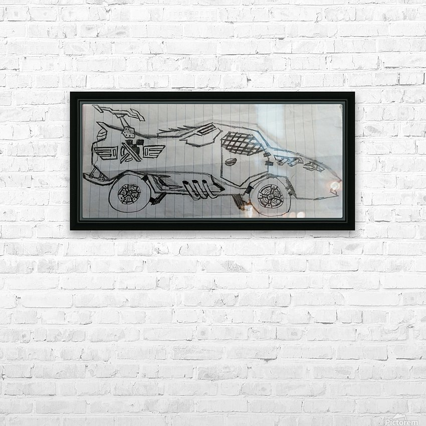 Off Road Super Car HD Sublimation Metal print with Decorating Float Frame (BOX)