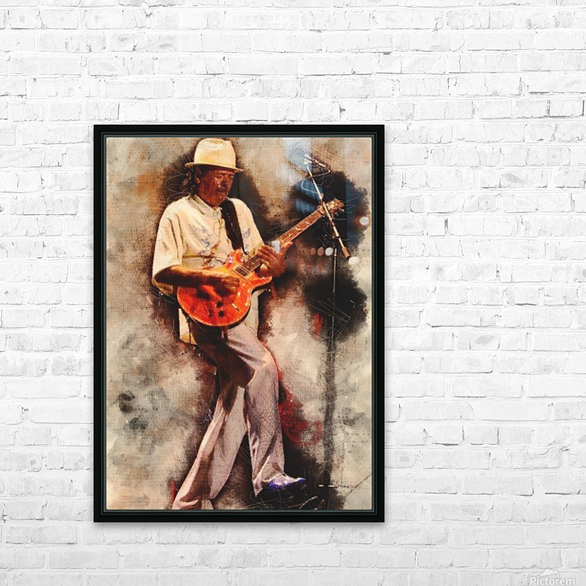 Carlos Santana HD Sublimation Metal print with Decorating Float Frame (BOX)