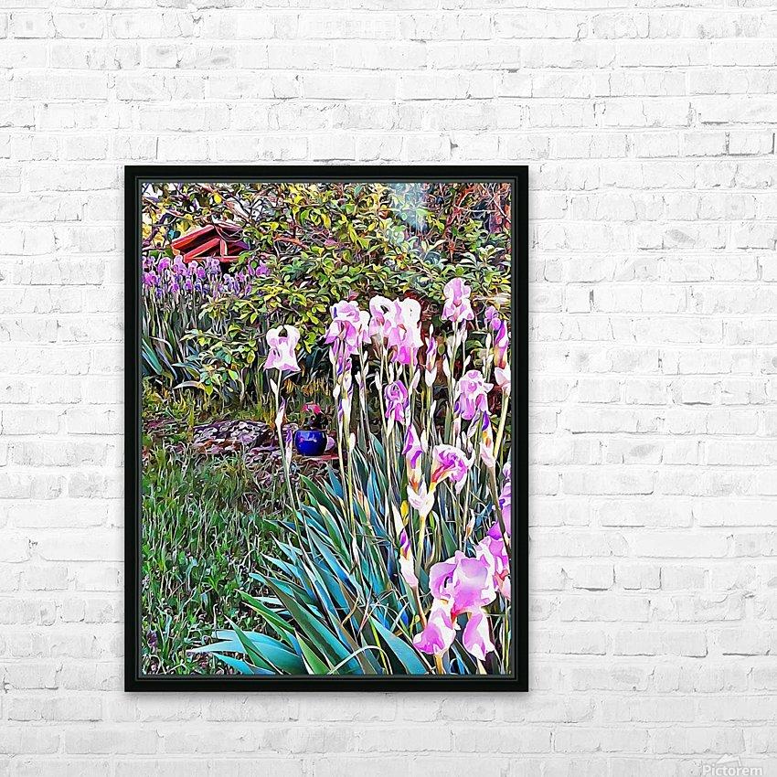 My Secret Iris Garden HD Sublimation Metal print with Decorating Float Frame (BOX)