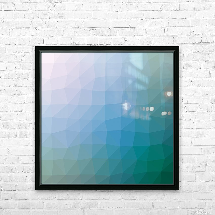 patterns low poly polygon 3D backgrounds, textures, and vectors (48) HD Sublimation Metal print with Decorating Float Frame (BOX)