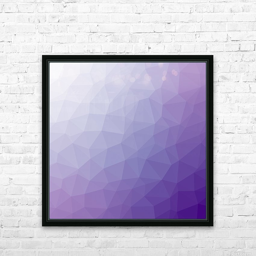 patterns low poly polygon 3D backgrounds, textures, and vectors (64) HD Sublimation Metal print with Decorating Float Frame (BOX)